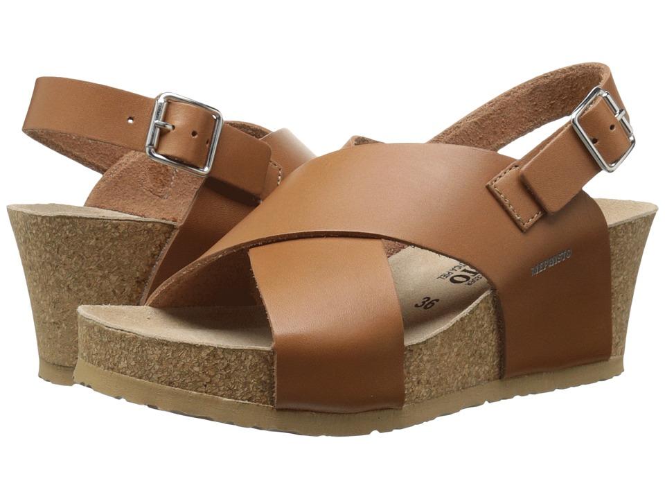 Mephisto - Lulu (Camel Waxy) Women's Wedge Shoes