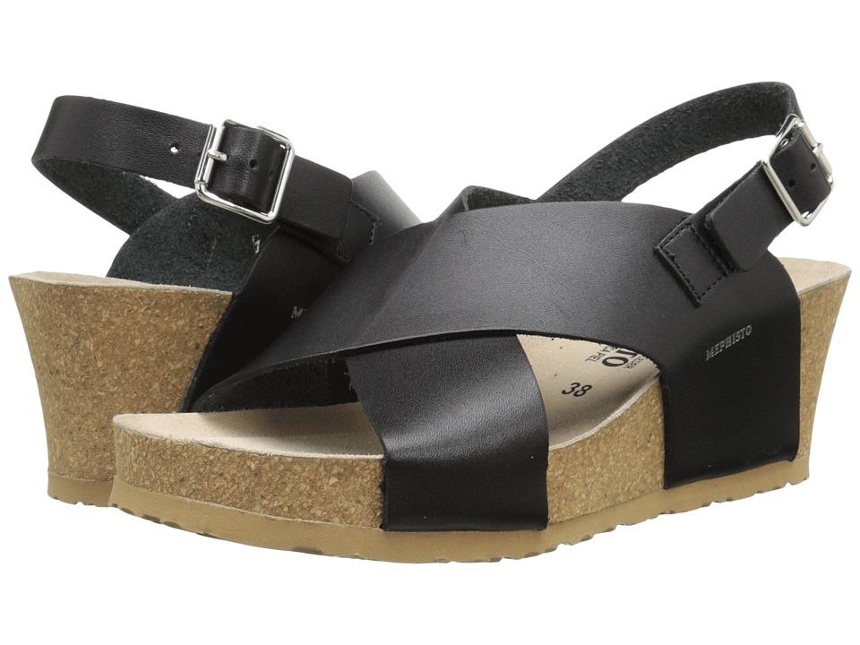 Mephisto - Lulu (Black Waxy) Women's Wedge Shoes