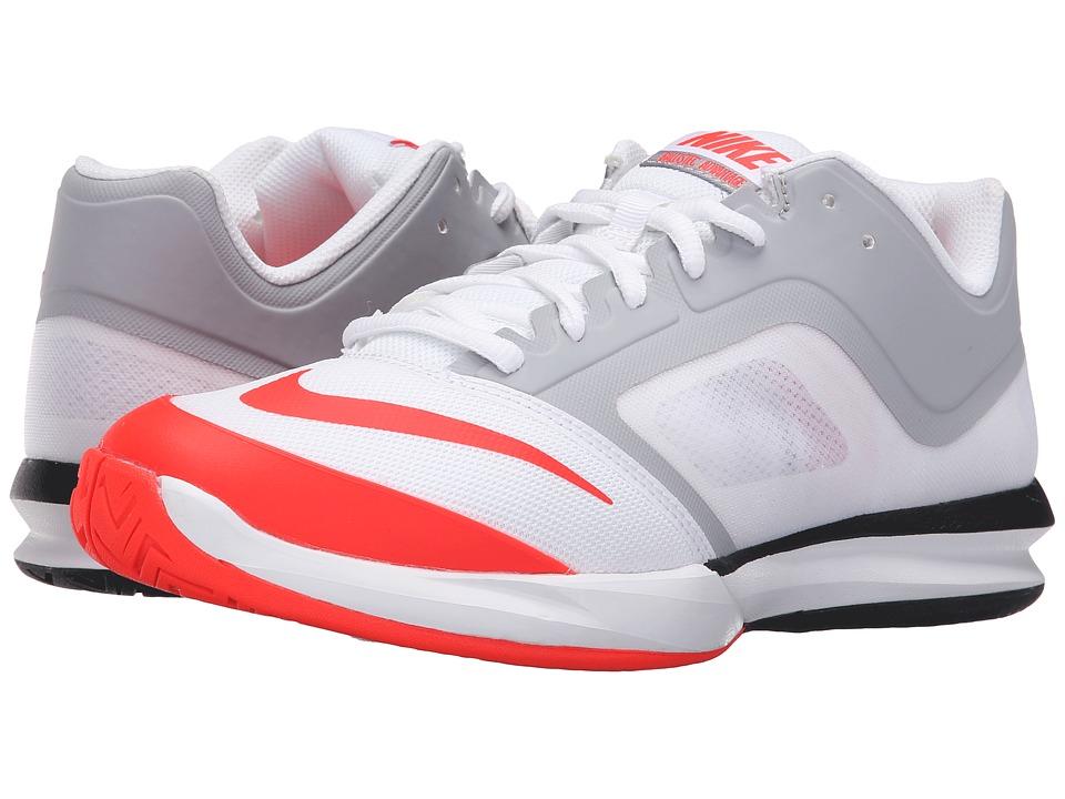 Nike - DF Ballistec Advantage (White/Wolf Grey/Bright Crimson) Men's Tennis Shoes