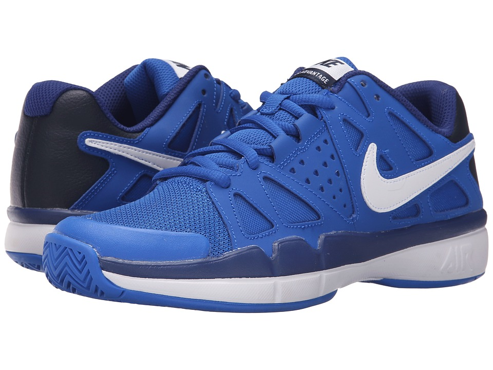 Nike - Air Vapor Advantage (Hyper Cobalt/Deep Royal Blue/Obsidian/White) Men's Tennis Shoes