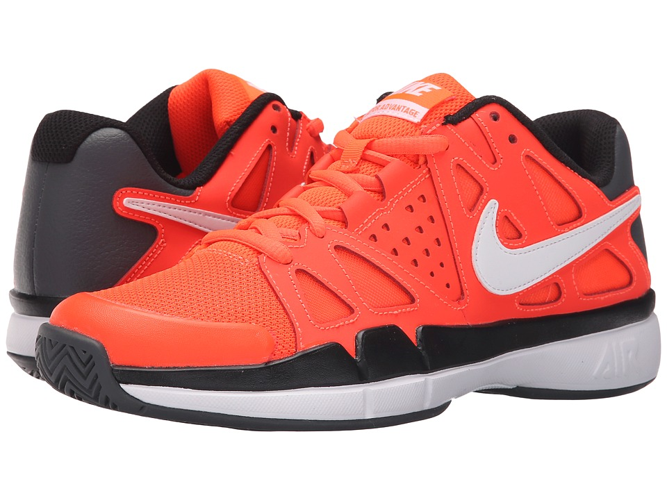 Nike - Air Vapor Advantage (Total Crimson/Black/Dark Grey/White) Men's Tennis Shoes