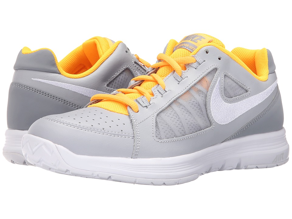 Nike - Air Vapor Ace (Wolf Grey/ Stealth/Laser Orange/White) Men's Tennis Shoes