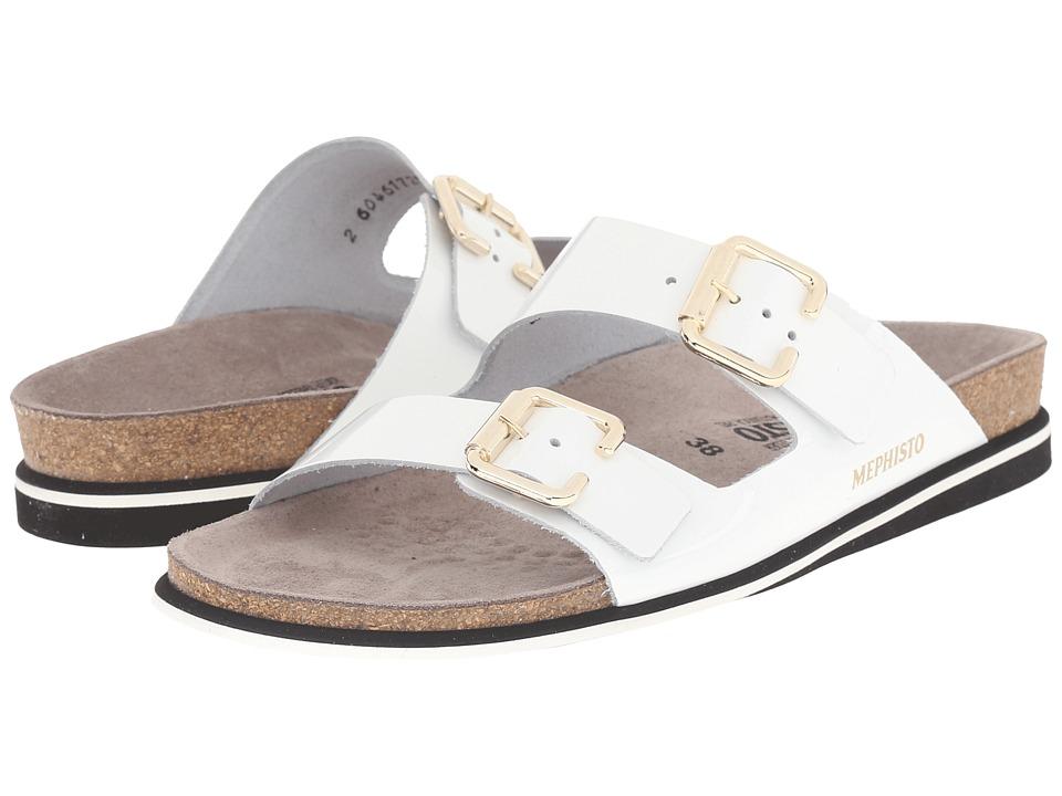 Mephisto - Sandie (White Patent) Women's Shoes