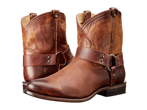 Frye - Wyatt Harness Short (Cognac) Women's Boots