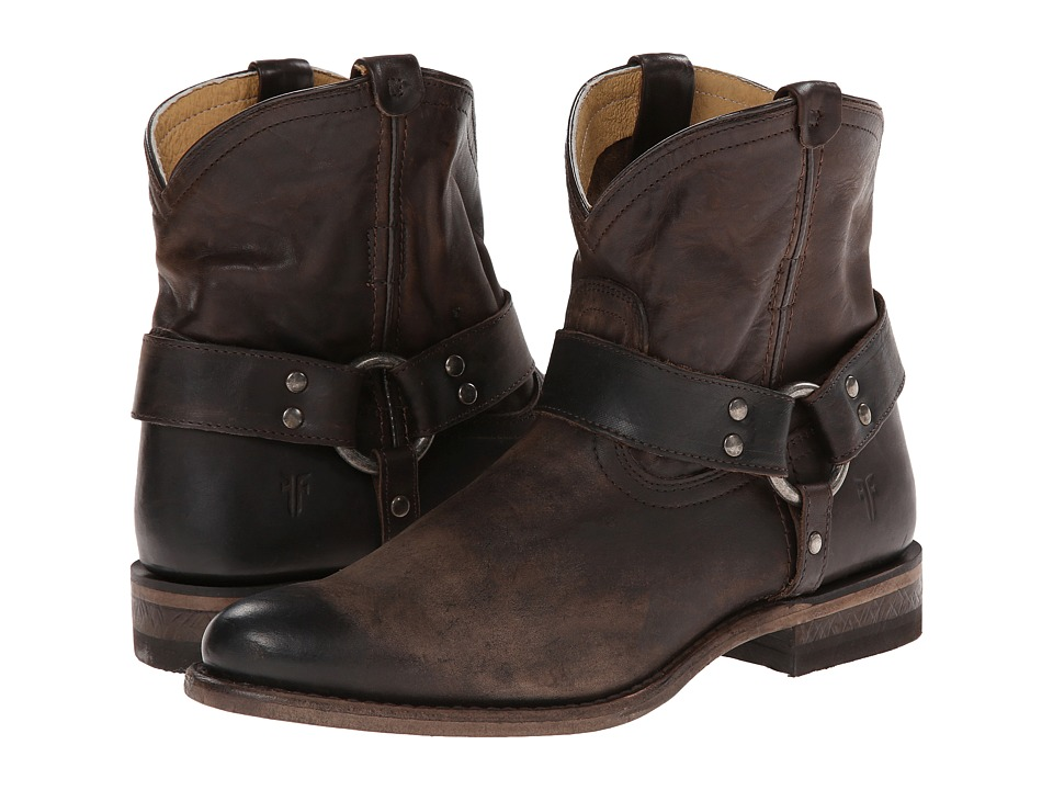 Frye - Wyatt Harness Short (Slate) Women's Boots
