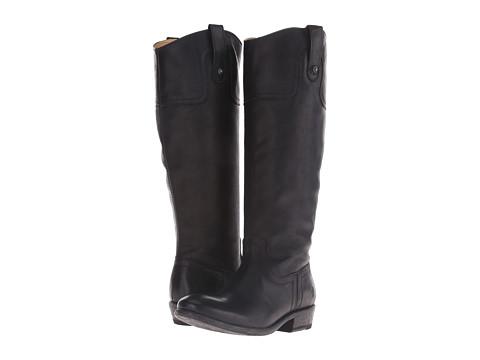 Frye - Carson Riding Button (Black) Cowboy Boots