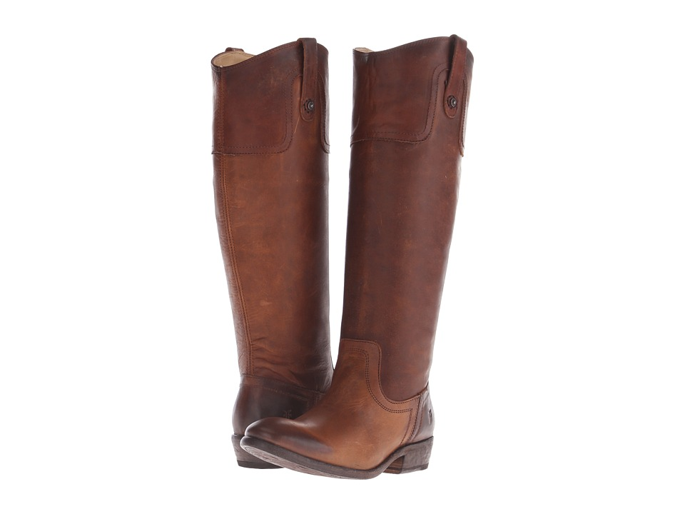 Frye Carson Riding Button (Cognac) Cowboy Boots