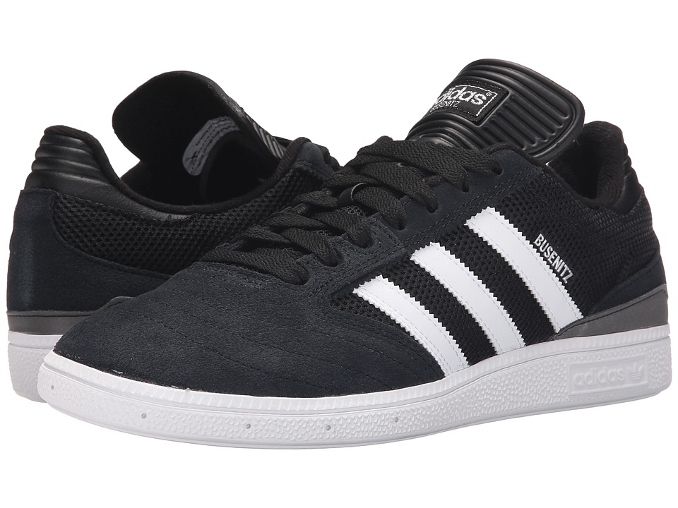 adidas Skateboarding - Busenitz Pro (Black/White/Silver Metallic) Men's Skate Shoes