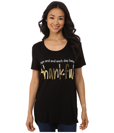 CJ by Cookie Johnson - Thankful Tee (Black) Women's T Shirt