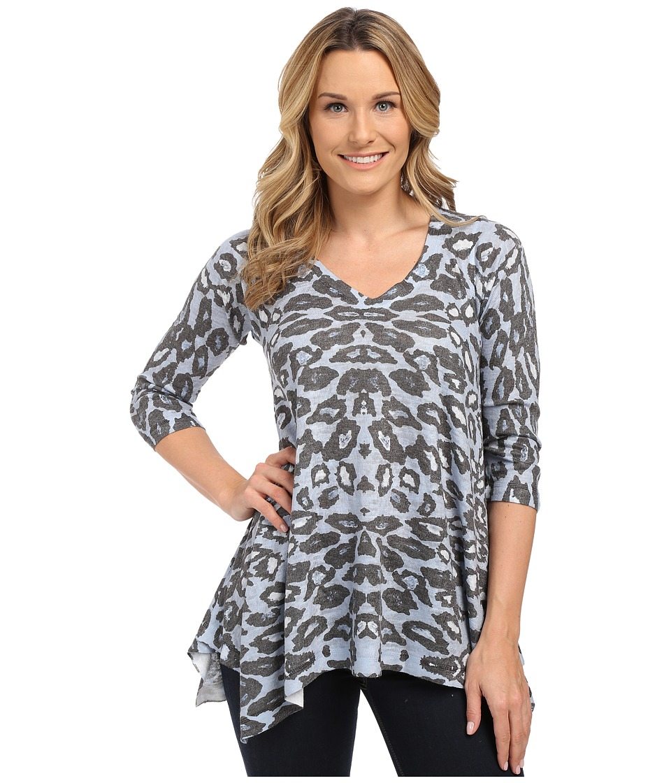 Nally & Millie - Animal Print Tunic (Blue Multi) Women's T Shirt