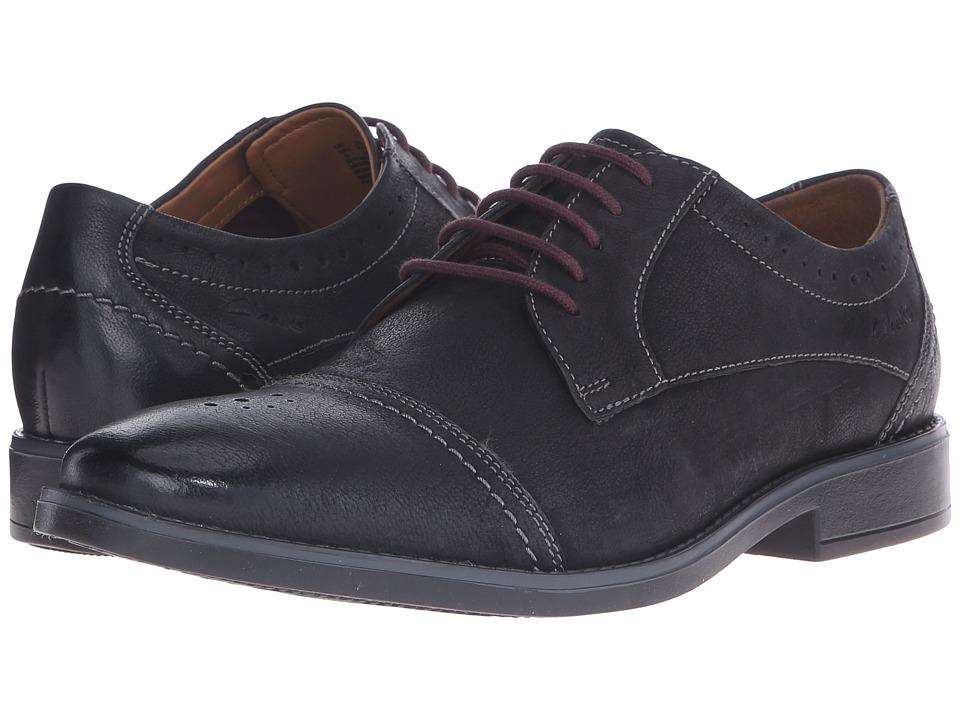 Clarks - Garren Cap (Black Leather) Men
