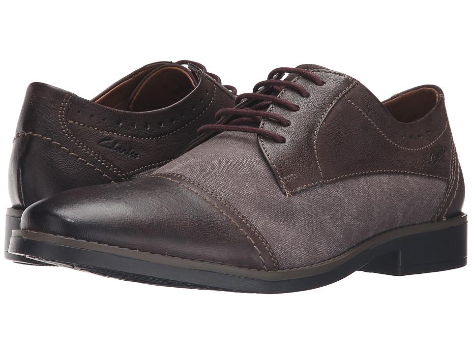 Clarks - Garren Cap (Brown Combi) Men's Shoes
