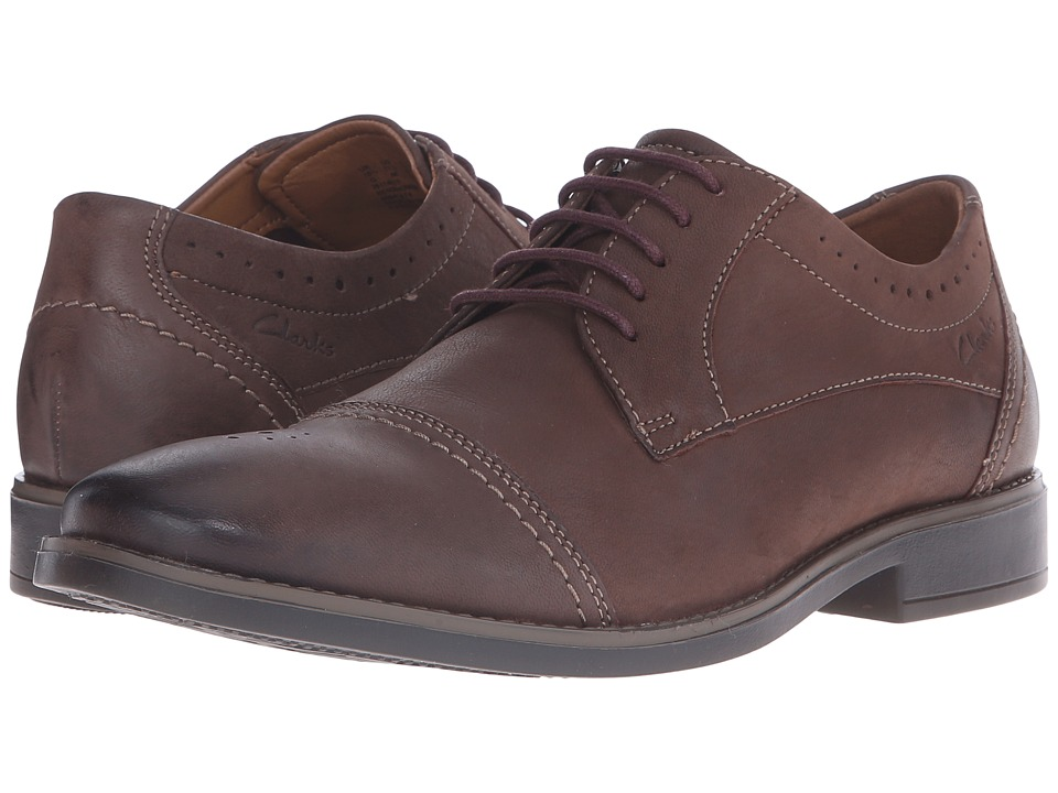 Clarks - Garren Cap (Brown Leather) Men's Shoes