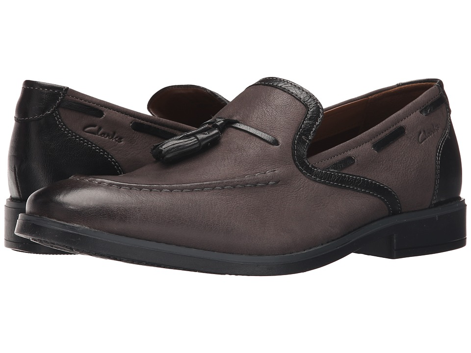 Clarks Garren Style (Grey Leather) Men