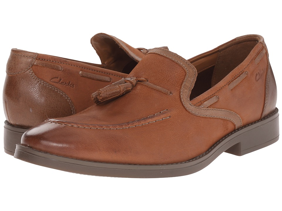 Clarks - Garren Style (Tan Leather) Men's Shoes