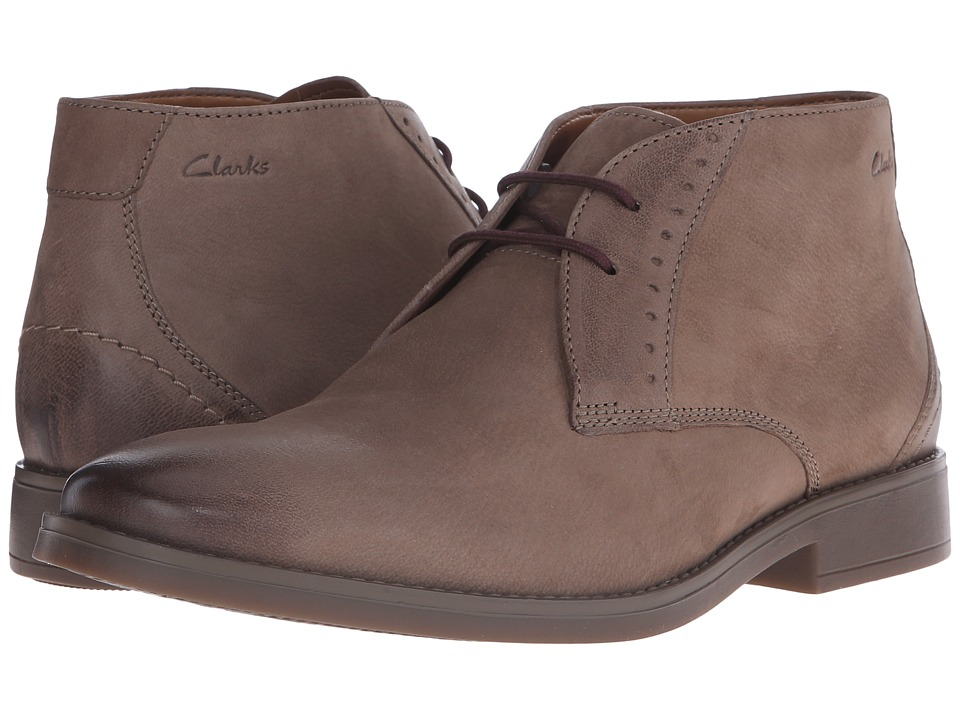 Clarks - Garren Free (Taupe Leather) Men's Shoes