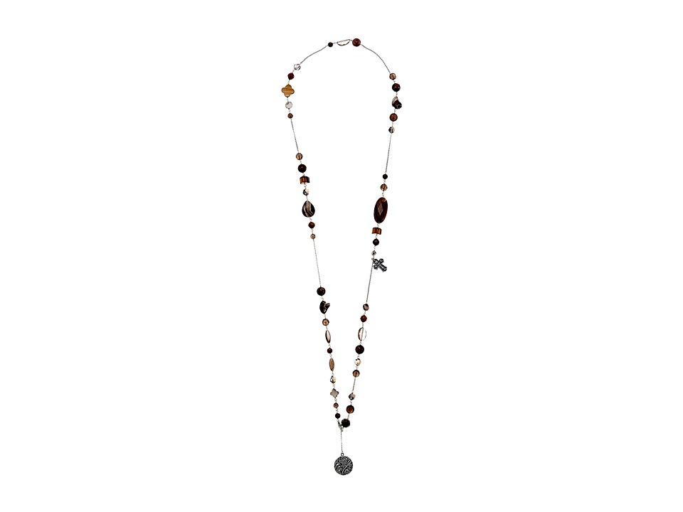 Chan Luu - 42' Adjustable Smokey Quartz Mix Necklace (Smokey Quartz) Necklace