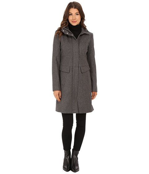 Kenneth Cole New York - Wool Walker (Gravel) Women's Coat