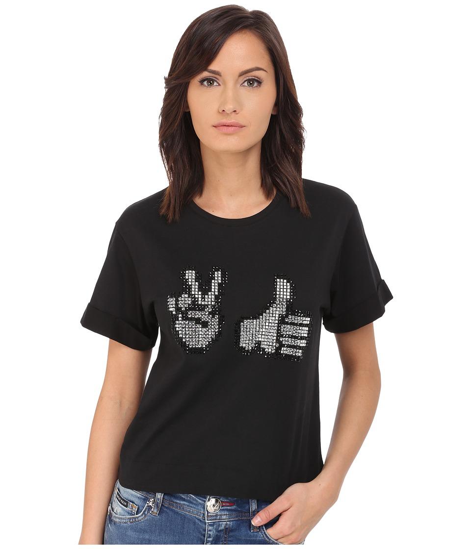 Philipp Plein - Thumbs Up T-Shirt (Black) Women's T Shirt