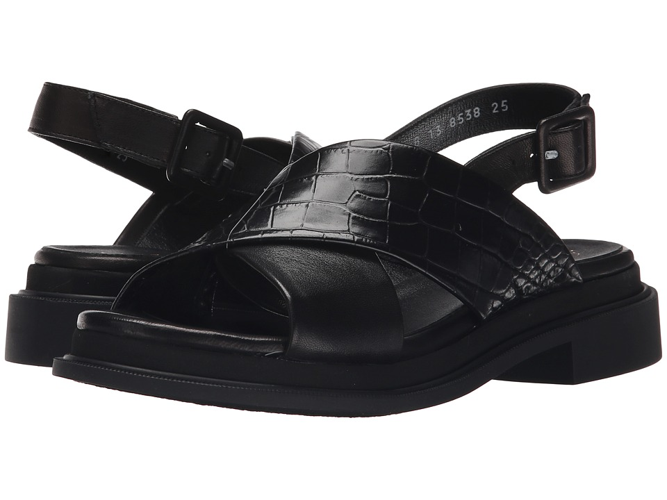 Robert Clergerie Calientek (Black Croc) Women