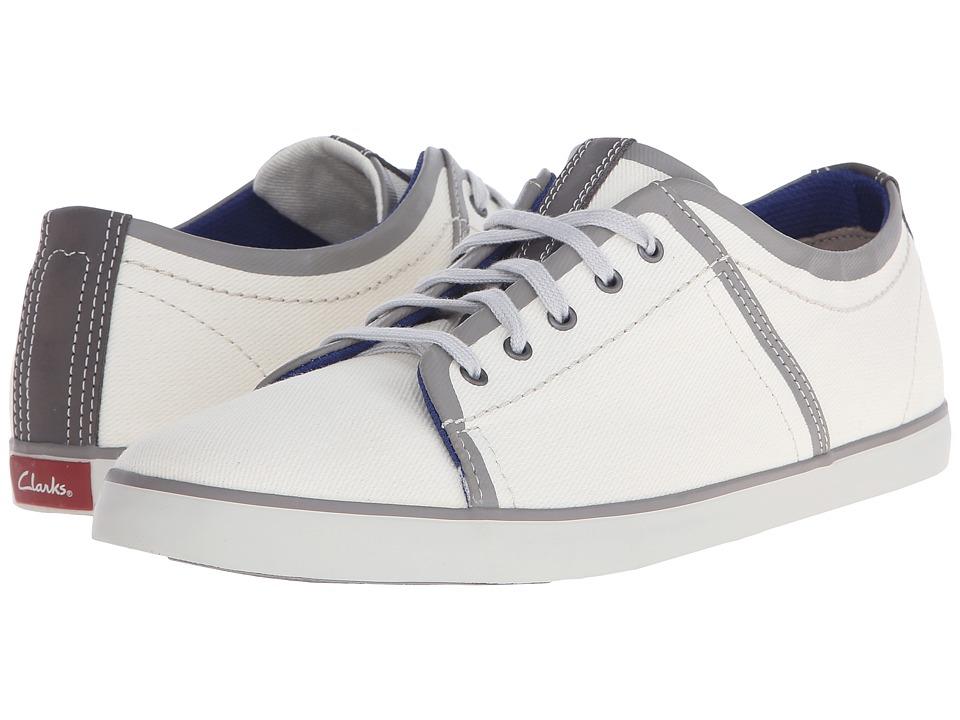 Clarks - Rorric Plain (White Canvas) Men's Shoes