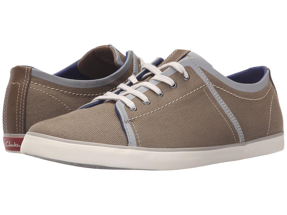 Clarks - Rorric Plain (Olive Canvas) Men's Shoes