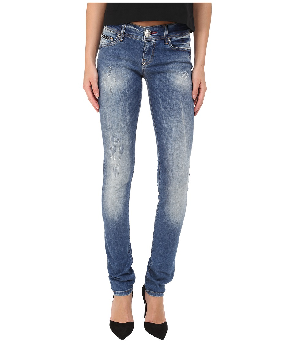 Philipp Plein - Ripped Denim (Blue) Women's Jeans