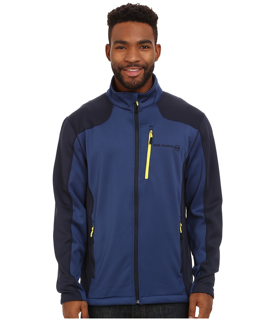 Free Country - Microtech Stretch Fleece (Blue/Dark Navy) Men's Fleece
