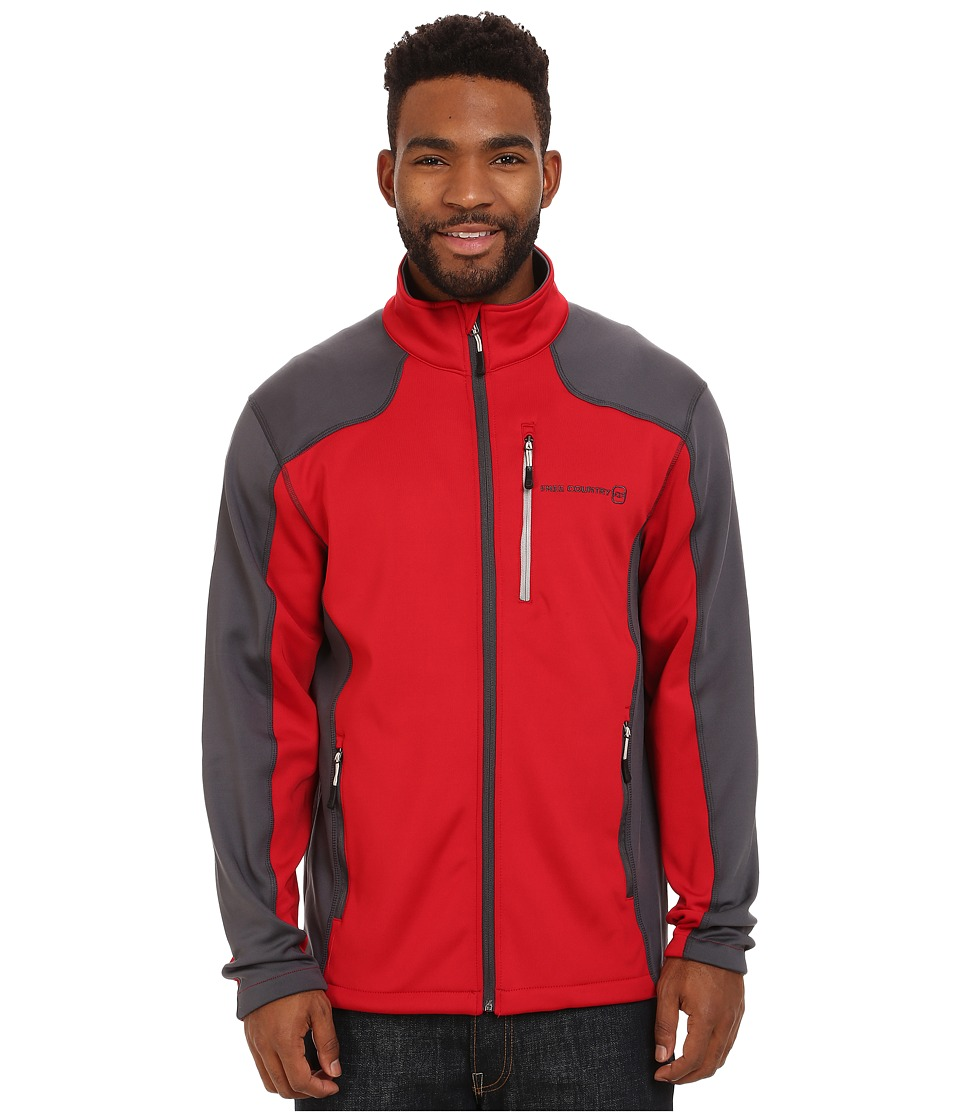 Free Country - Microtech Stretch Fleece (Red/Charcoal) Men