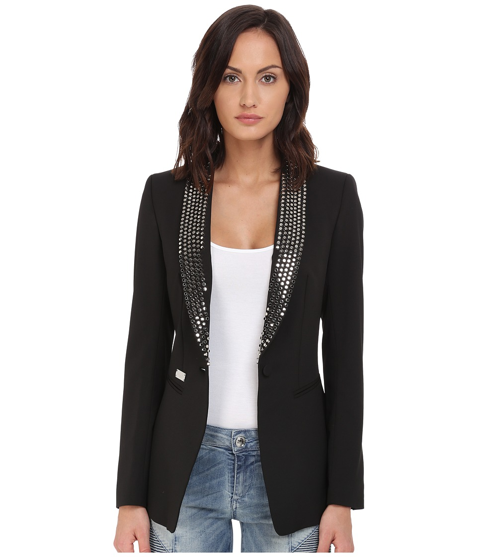 Philipp Plein - Studded Blazer (Black) Women's Jacket