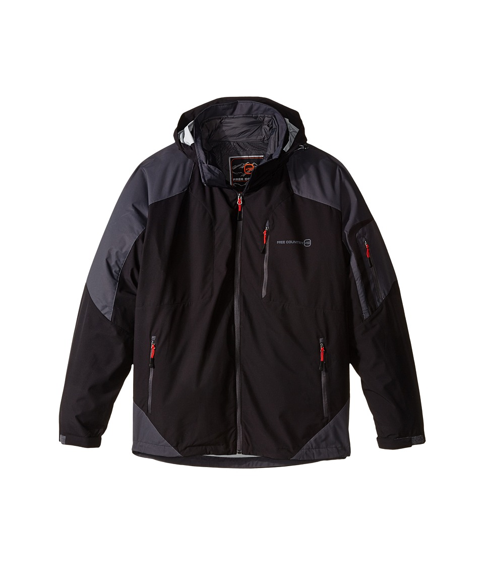 Free Country - Waterproof Stretch (Black/Charcoal) Men's Clothing