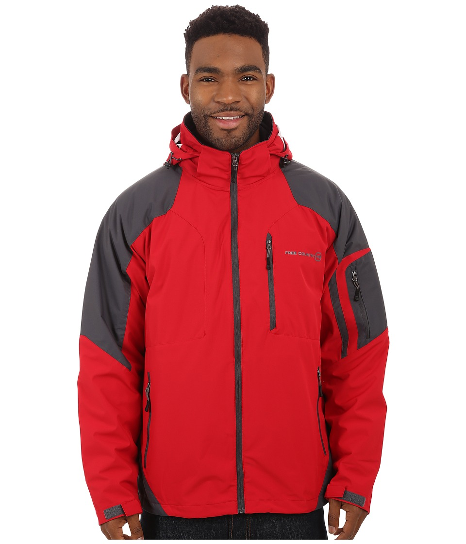 Free Country - Waterproof Stretch (Red/Charcoal) Men's Clothing