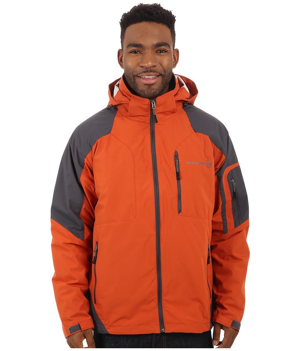 Free Country - Waterproof Stretch (Harris Orange/Charcoal) Men's Clothing