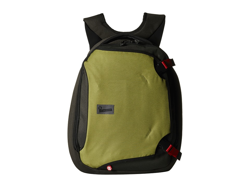 Crumpler - The Dry Red No 5 Laptop Backpack (Khaki/Gunmetal) Backpack Bags