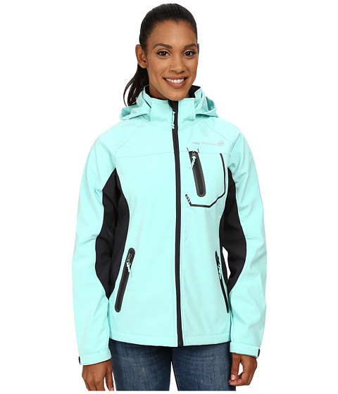 Free Country - Classic Softshell (Aqua Haze/Jet Grey) Women