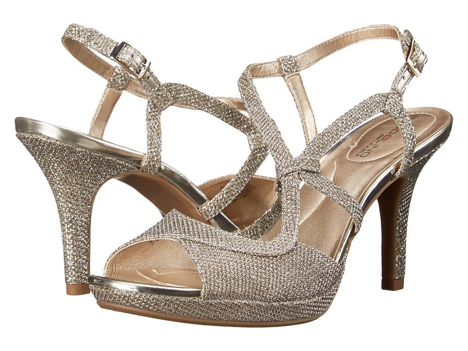 Bandolino - Swain2 (Gold Fabric) High Heels