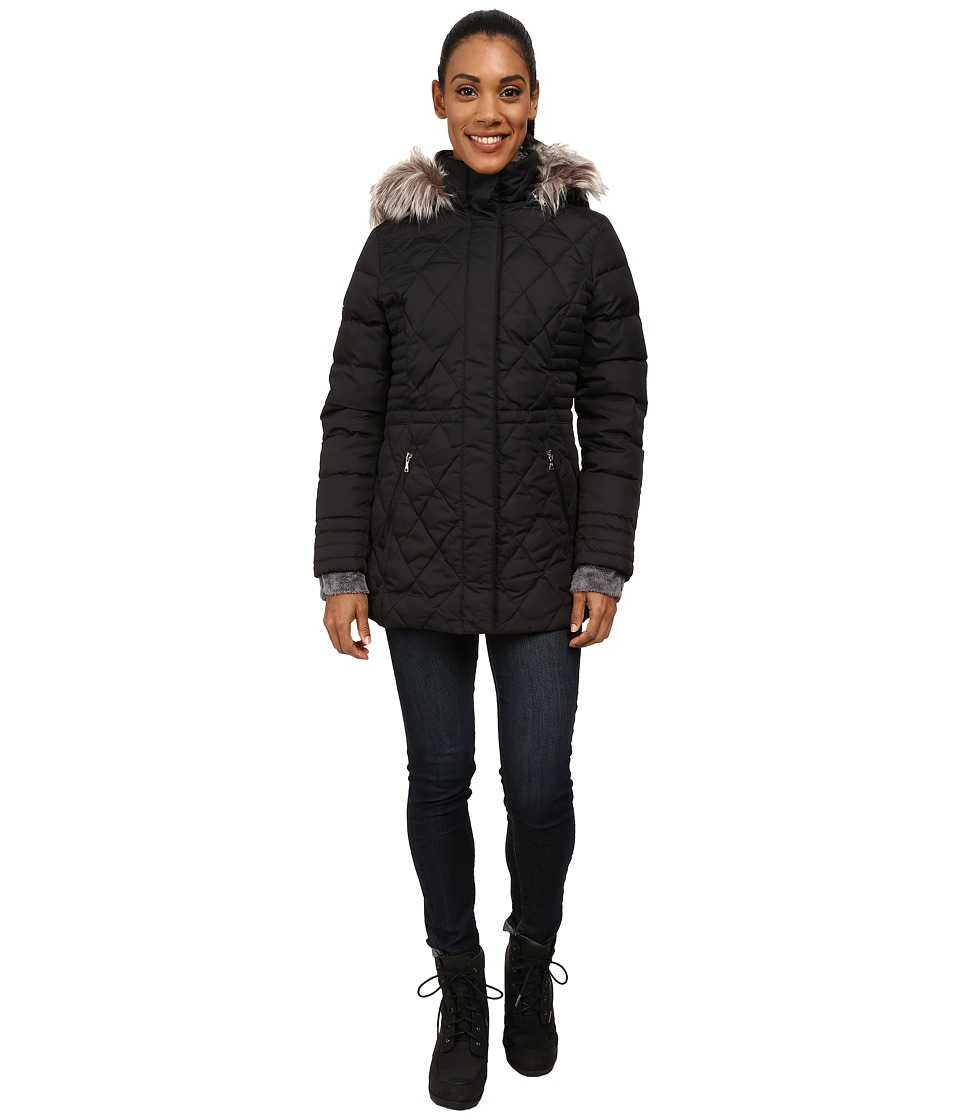 Free Country - Power Down Mid-Length (Black) Women's Coat