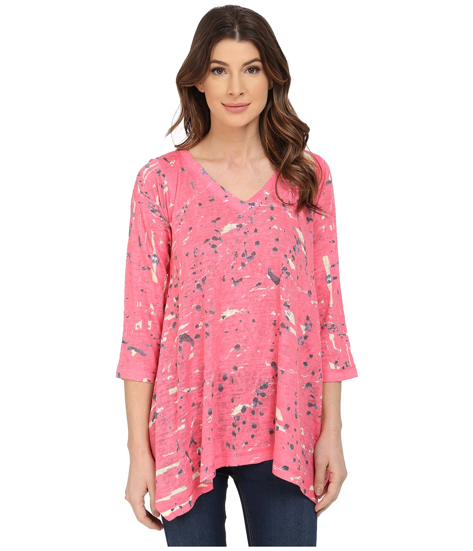 Nally & Millie - Sharkbite Tunic (Coral) Women's Blouse