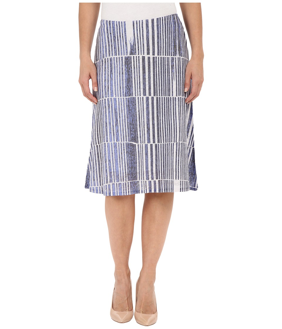 Nally & Millie - Blue Stripe Skirt (Multi) Women's Skirt