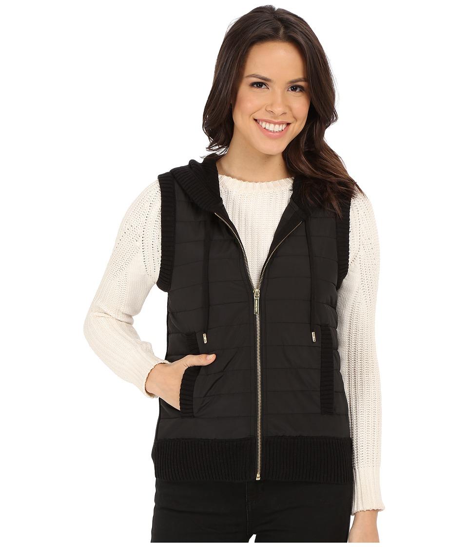 MICHAEL Michael Kors - Puff Zip Front Vest (Black) Women's Vest