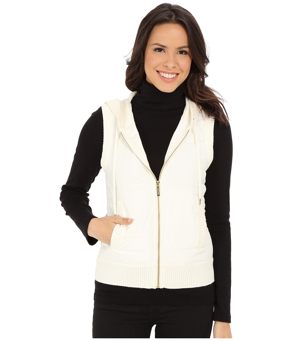 MICHAEL Michael Kors - Puff Zip Front Vest (Cream) Women