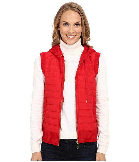 MICHAEL Michael Kors - Puff Zip Front Vest (Red Blaze) Women