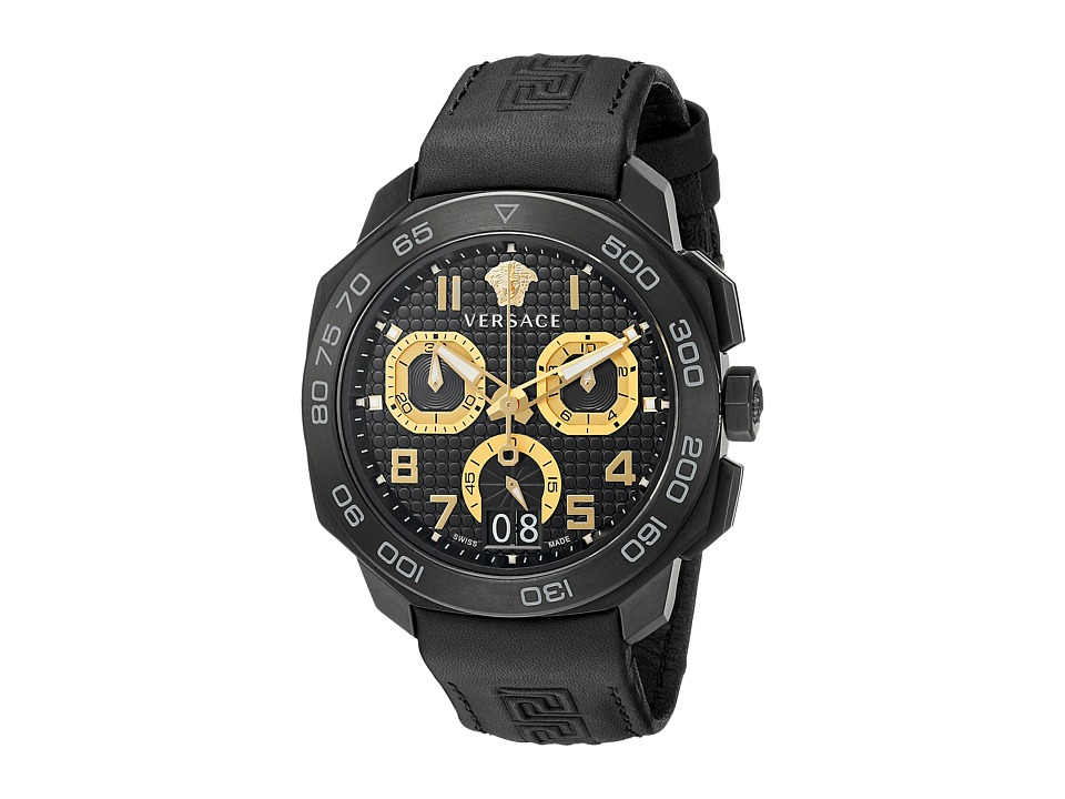 Versace - Dylos Chrono VQC02 0015 (Black) Watches