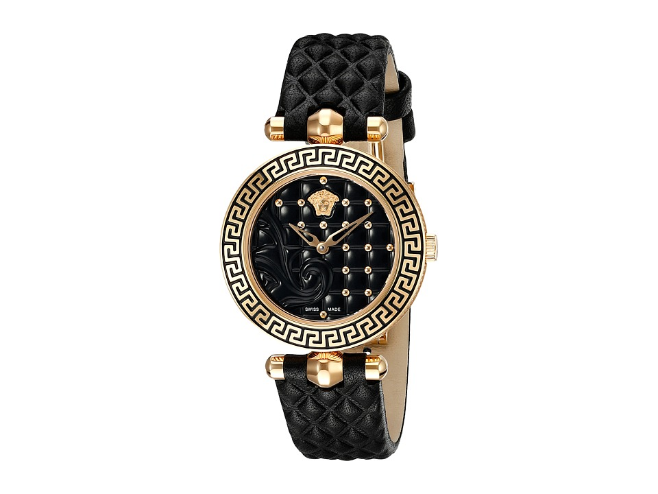 Versace - Vanitas 30mm VQM01 0015 (Rose Gold/Black) Watches