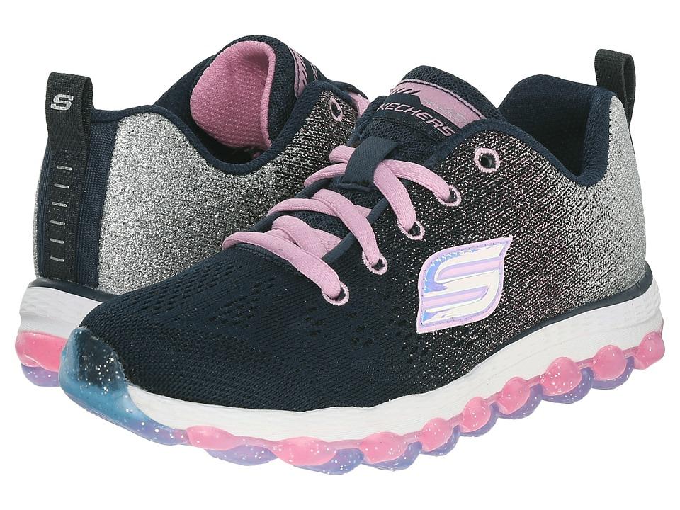 SKECHERS KIDS - Skech Air Ultra 80035L (Little Kid/Big Kid) (Navy/Pink) Girl's Shoes