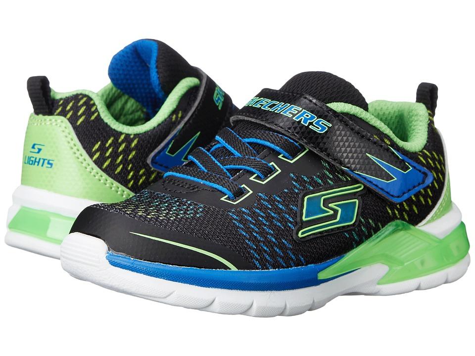 SKECHERS KIDS - Erupters II - Lava Arc 90551N Lights (Toddler) (Black/Blue/Lime) Boy's Shoes