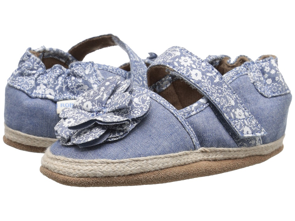Robeez - Jourdan Espadrille Soft Sole (Infant/Toddler) (Chambray 2) Girls Shoes