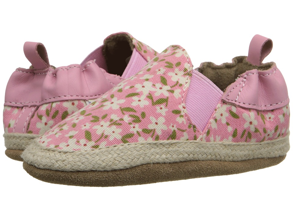 Robeez - Floral Mania Soft Sole (Infant/Toddler) (Light Pink) Girls Shoes