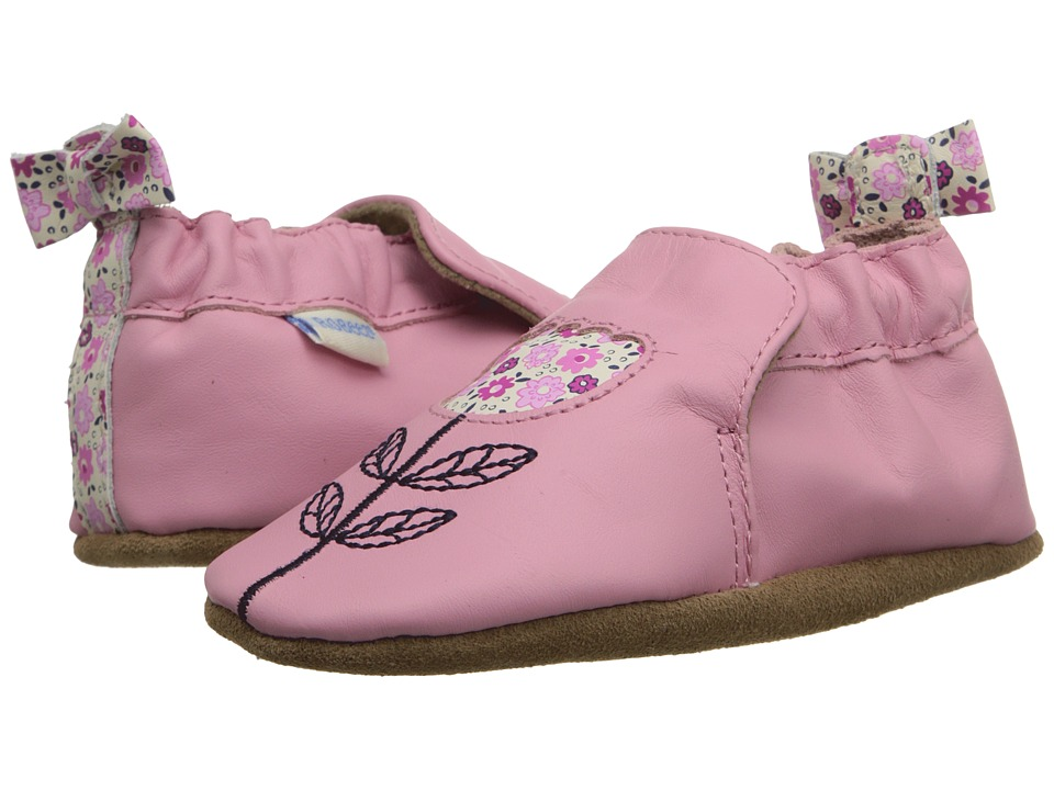 Robeez - Tina Tulip Soft Sole (Infant/Toddler) (Prism Pink) Girls Shoes