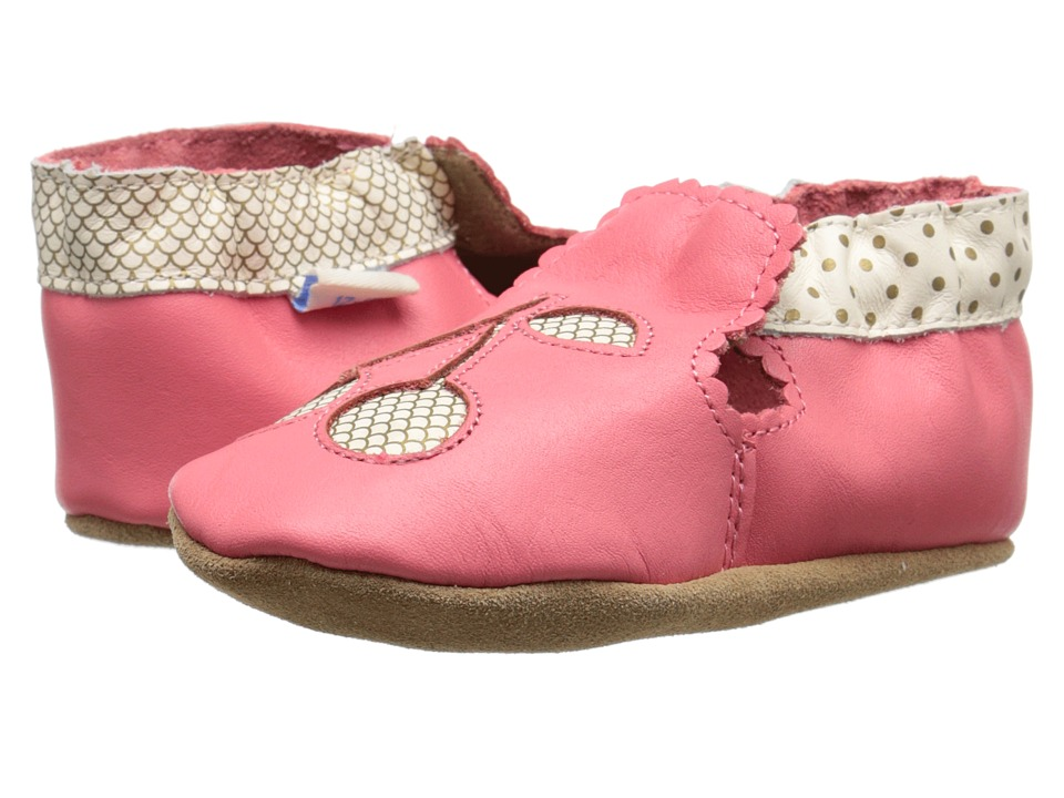 Robeez - Cherry Soft Sole (Infant/Toddler) (Sorbet) Girls Shoes